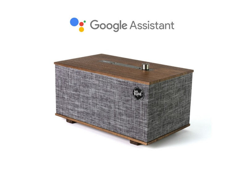THE THREE Wireless Stereo System Walnut with Google Assistant