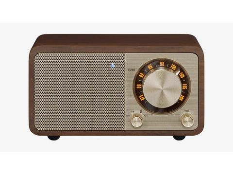 WR-7 FM/Bluetooth/Aux-in Wooden Cabinet Radio Walnut