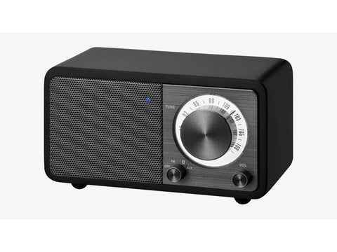 WR-7 FM/Bluetooth/Aux-in Wooden Cabinet Radio Black