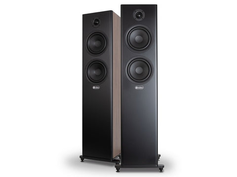 WIZARD S6 Vented 3-way Floorstanding Speaker Pair Walnut
