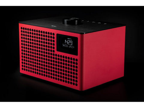 Acustica Lounge Radio FM/DAB+ BT Speaker Line-in Alarm Clock Red