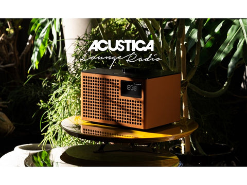 Acustica Lounge Radio FM/DAB+ BT Speaker Line-in Alarm Clock Cognac