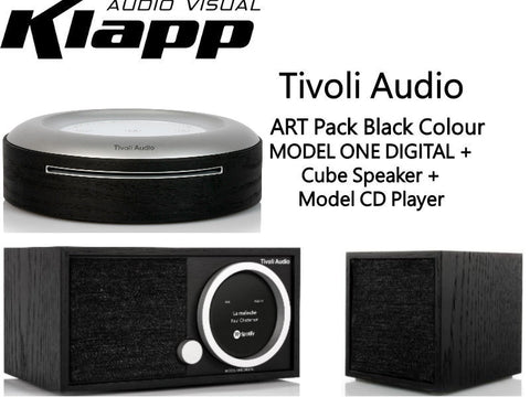 ART MODEL ONE DIGITAL + Cube Speaker + Model CD Player Black