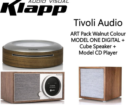 ART MODEL ONE DIGITAL + Cube Speaker + Model CD Player Walnut