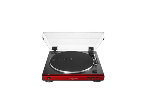 AT LP60X Fully Automatic Belt-Drive Turntable Red