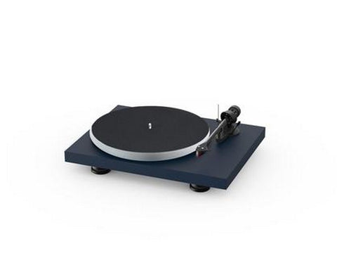 Debut Carbon Evo Acryl Turntable Satin Steel Blue with Ortofon 2M Red Cartridge