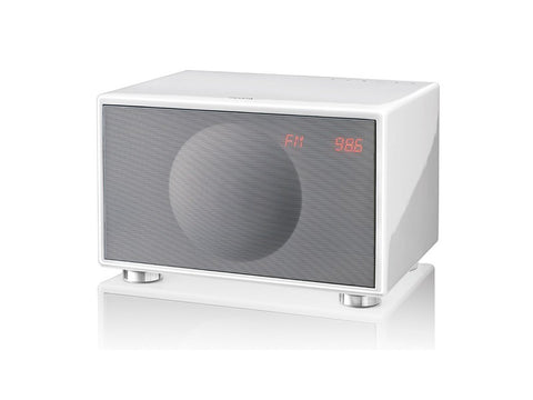 Classic M WHITE Handcrafted HiFi Speaker Alarm Clock Radio FM DAB+ Bluetooth