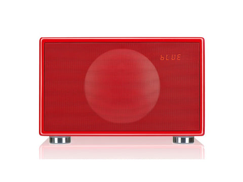 Classic M RED Handcrafted HiFi Speaker Alarm Clock Radio FM DAB+ Bluetooth