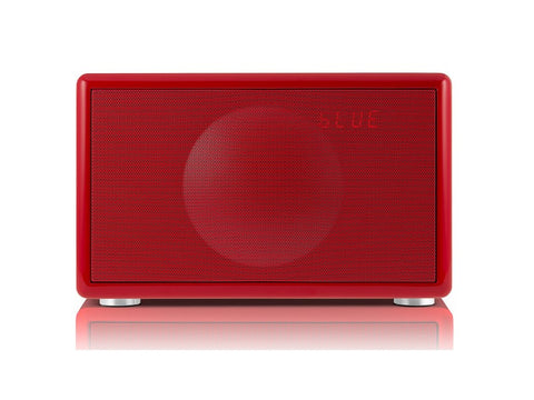 Classic S RED Handcrafted HiFi Speaker Alarm Clock Radio FM DAB+ Bluetooth
