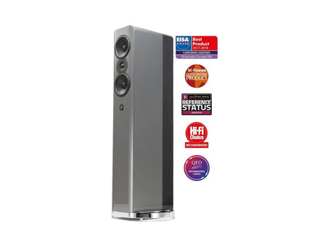 Concept 500 Floor-standing Speaker Pair Silver / Ebony