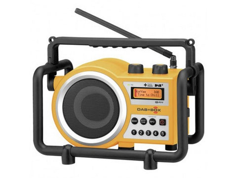 DAB+BOX RUGGED Portable Digital Radio Yellow