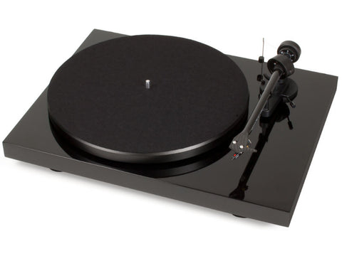 Debut Carbon DC Turntable + Ortofon OM10 Cartridge - Gloss Black - Ex Display