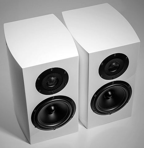 GT10 WHITE Bookshelf Speakers