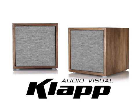 2 x ART CUBE Wireless Speakers Walnut