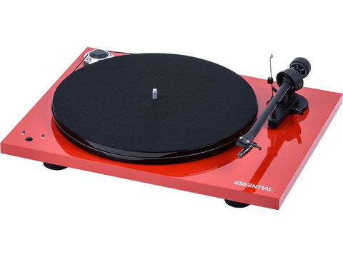 Essential III SB Turntable RED with Ortofon OM10 Cartridge