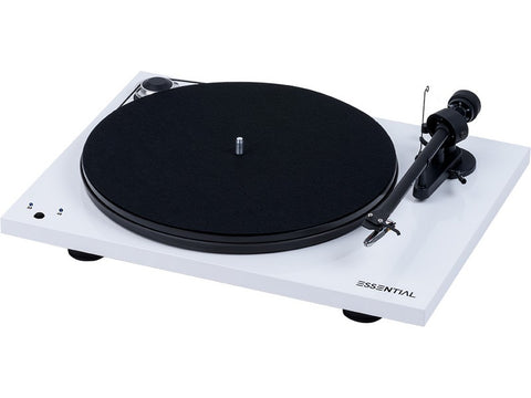 Essential III SB Turntable WHITE with Ortofon OM10 Cartridge