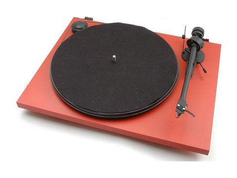 Essential II Phono USB Turntable RED with Ortofon OM5e Cartridge