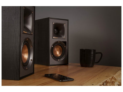 Reference R-41PM Powered bookshelf BT Speaker Pair Built-in Phono Preamp Black