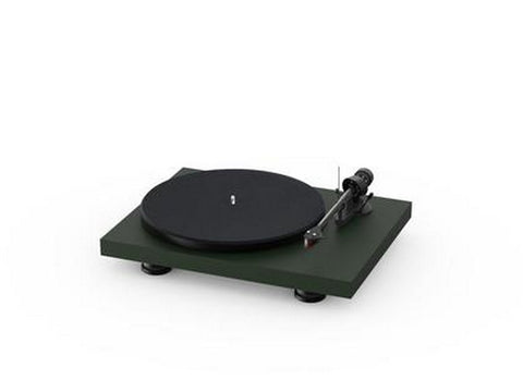 Debut Carbon Evo Acryl Turntable Satin Fir Green with Ortofon 2M Red Cartridge