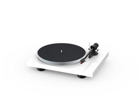 Debut Carbon Evo Acryl Turntable High Gloss White with Ortofon 2M Red Cartridge