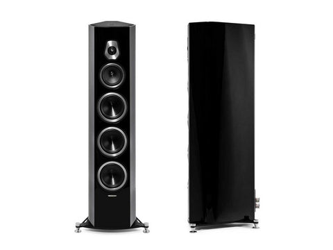 Sonetto VIII 3-way Floorstanding Vented Loudspeaker Pair Black