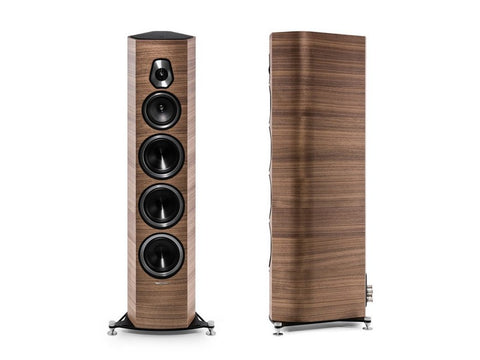 Sonetto VIII 3-way Floorstanding Vented Loudspeaker Pair Wood