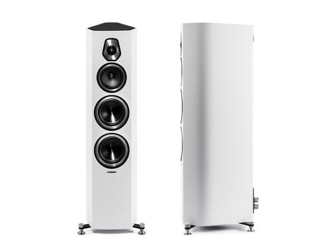 Sonetto V 3-way Floorstanding Vented Loudspeaker Pair White