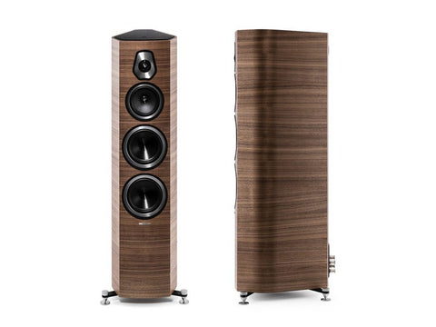 Sonetto V 3-way Floorstanding Vented Loudspeaker Pair Wood