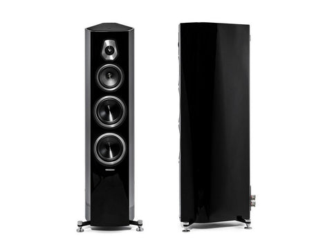 Sonetto V 3-way Floorstanding Vented Loudspeaker Pair Black