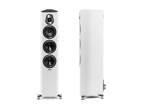 Sonetto III 3-way Floorstanding Loudspeaker Pair White