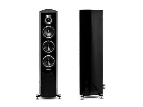 Sonetto III 3-way Floorstanding Loudspeaker Pair Black