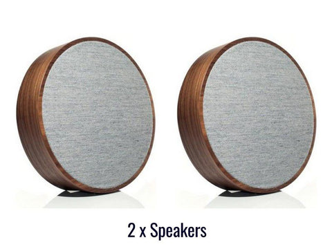 2 x ART ORB Wireless Speakers Walnut