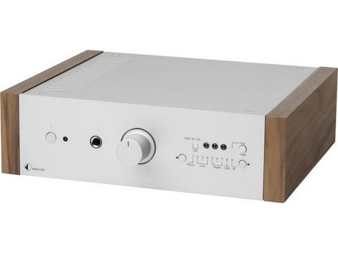 MaiA DS2 Bluetooth Integrated Amplifier Silver with Walnut Side Panels