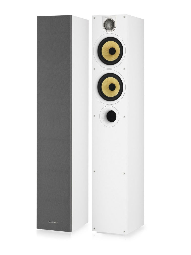 684 S2 White Floor Standing Speaker Pair