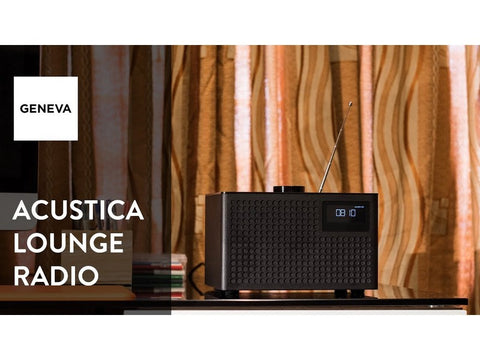 Acustica Lounge Radio FM/DAB+ BT Speaker Line-in Alarm Clock Black