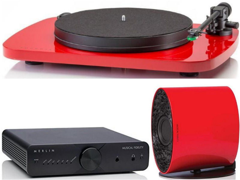Merlin Multi Format Audio System RED + Roundtable Turntable