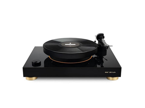 Levitating Turntable Gold Black