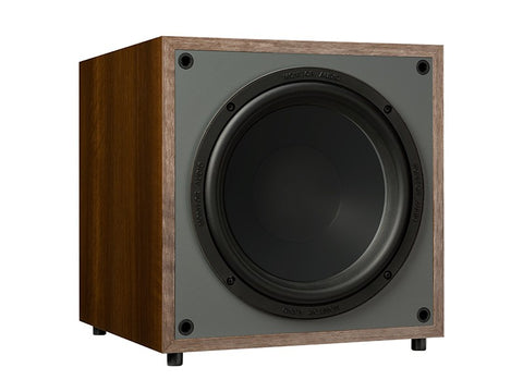 Monitor MRW-10 Powered Subwoofer Walnut Vinyl