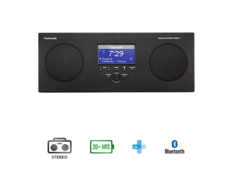 Music System Three+ FM/DAB Portable Micro Hi-Fi System with Bluetooth