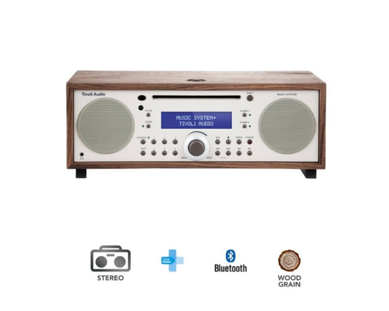 Music System+ FM/DAB Walnut Micro Hi-Fi System with CD Player and Bluetooth