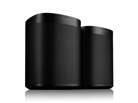 One Smart Wireless Speaker PAIR OFFER Amazon Alexa Voice Control Built-In Black