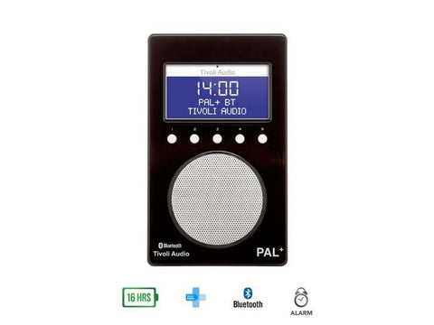 PAL+ BT DAB+/FM Portable Radio with Bluetooth Black