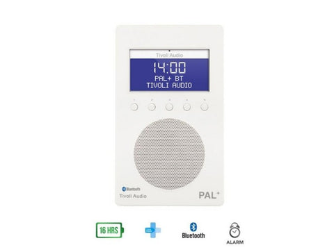 PAL+ BT DAB+/FM Portable Radio with Bluetooth White