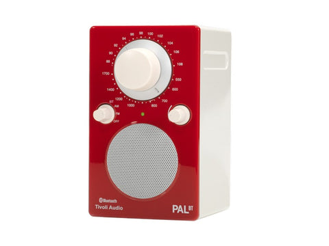 PAL BT Portable AM/FM Radio with Bluetooth Red