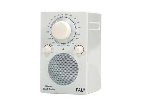 PAL BT Portable AM/FM Radio with Bluetooth White