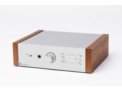 Pre Box DS2 Digital Preamplifier Silver with Walnut Side Panels