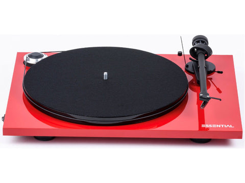 Essential III Phono Turntable RED with Ortofon OM10 Cartridge