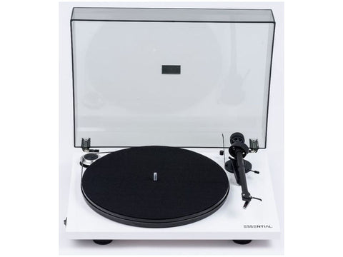 Essential III Phono Turntable WHITE with Ortofon OM10 Cartridge