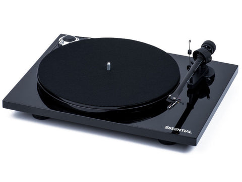 Essential III Phono Turntable BLACK with Ortofon OM10 Cartridge