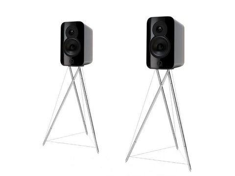 Concept 300 Standmount Speaker Pair Black with Stands
